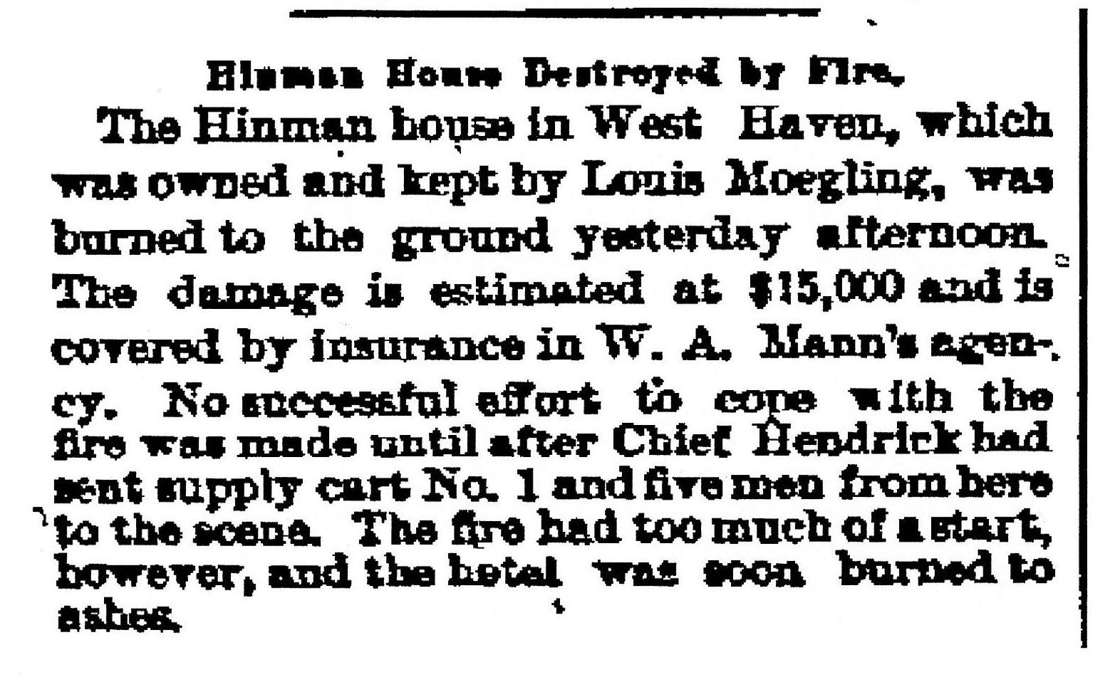 Hinman House article